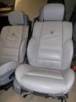 Tapicería de piel Gris claro BMW Serie 3 Alpina E46 2003 descapotable